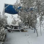 סופת שלגים במתחם