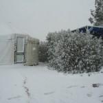 במהלך סופת שלג